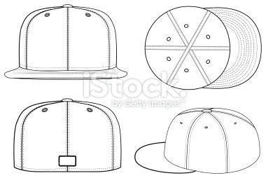 Baseball Cap Outlined Cap Vector Illustration A Very Clean And Vector Illustration Vector Free Vector Art Illustration