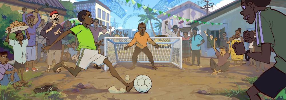 ArtStation Google doodle Nigeria, Harrison yinfaowei