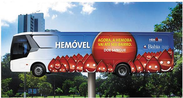 Agora, A Hemoba vai até seu bairro  Cliente: Governo da Bahia - Secretaria da Saúde.