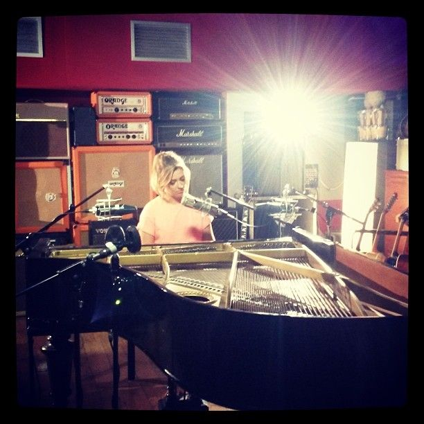 Got something exciting for u to hear soon ;). X #filming #studios #music #ellaalbum