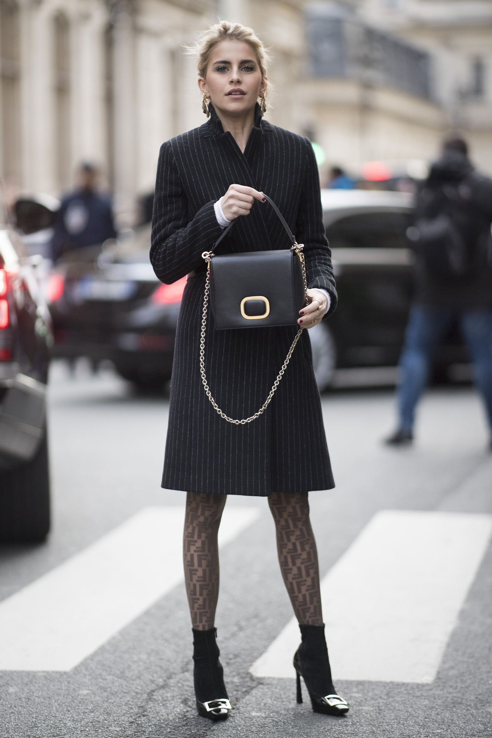 cdd5b3c361a 10 fun (and grown-up) ways to wear tights this season. Take inspiration  straight from the catwalk. Layer them up- HarpersBAZAARUK