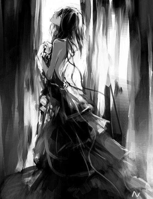 Japanese anime manga kawaii marie anime anime art - Dark anime girl pics ...