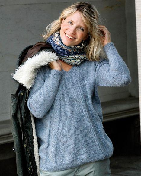 f8583a95 Strik selv: Bluse med snoninger - Hendes Verden | Knitting ...