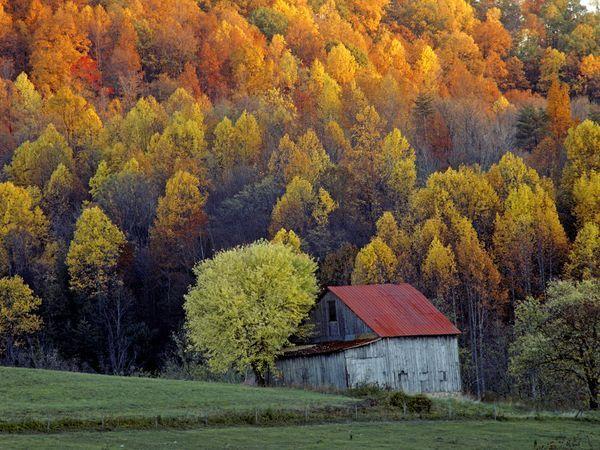 Shenandoah Valley, Virginia - farm  house