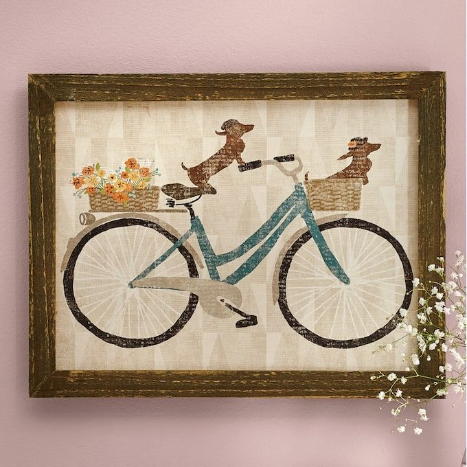 Weiner Dogs On Bicycle Art (With Images)