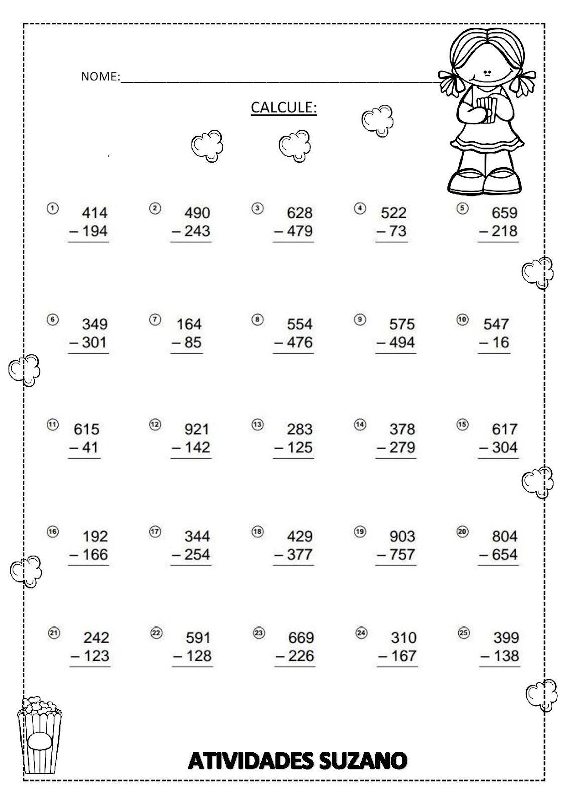 Pin von Gisele auf Matemática 2 | Pinterest | Mathe-Arbeitsblätter ...