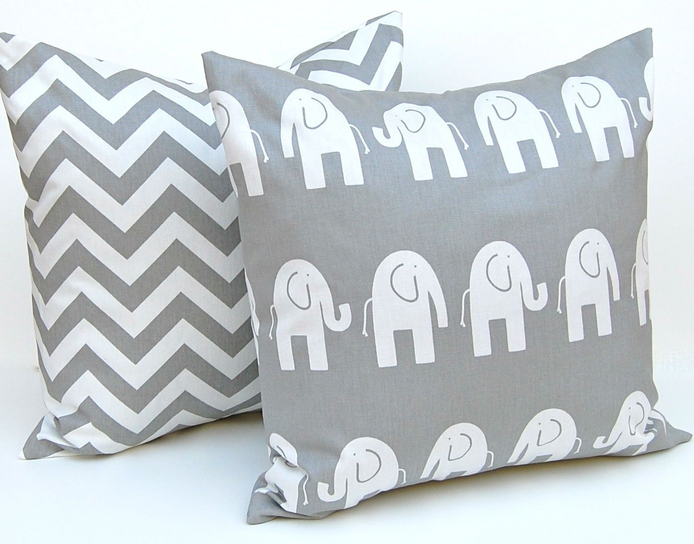 Decorative Pillows Children Decor Gray Animal Pillow Covers Accent Nursery 18 X Inches