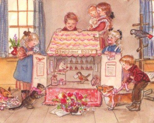Tasha Tudor Dollhouse Dollhouse Illustration By Tasha