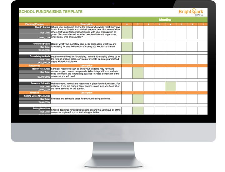 School Fundraisers Have A Lot Of Moving Parts Our School - Fundraising timeline template