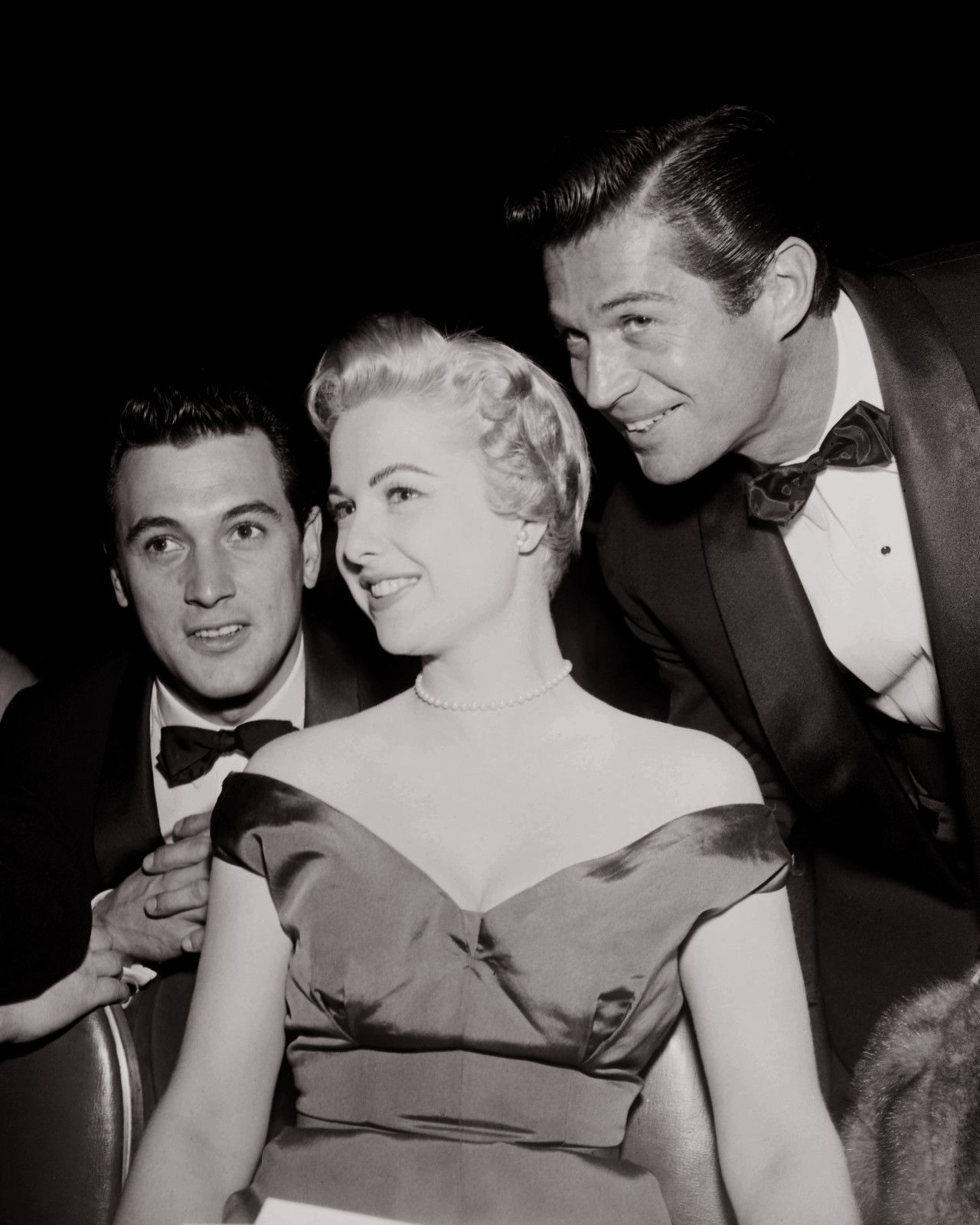 Rock Hudson with Martha Hyer and George Nader at a Party in Los ...