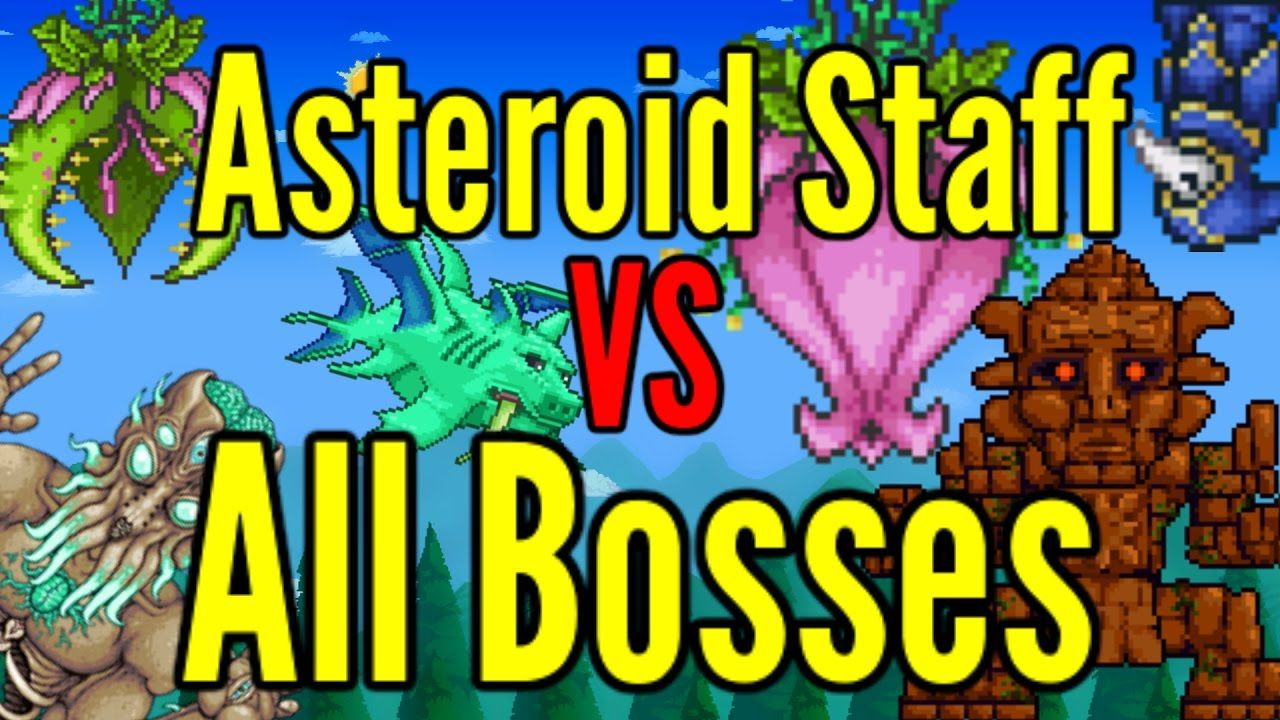 Terraria Asteroid Staff Vs All Bosses Modded Bosses Included Terrarium Boss Book Cover