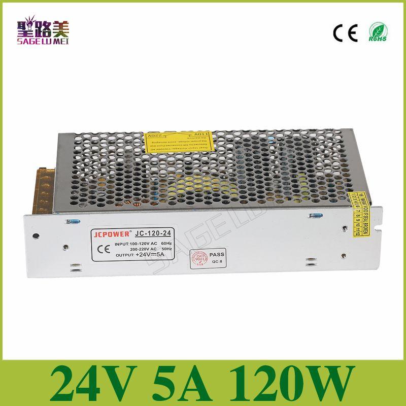 Input Ac110v 220v To Output Dc24v 5a 120w Universal Regulated Switching Power Supply Lighting Transformer Cctv Psu Led Lamp Affiliate