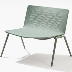 Photo of Fast Zebra Knit Loungesessel pastellblau weisser SandDesigntolike.de