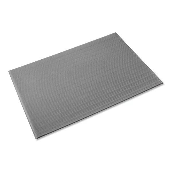 Ribbed Antifatigue Non Slip Indoor Only Door Mat In 2020 Grey Indoor Crown