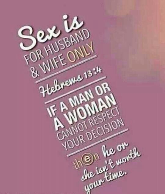 Bible quotes that address sex