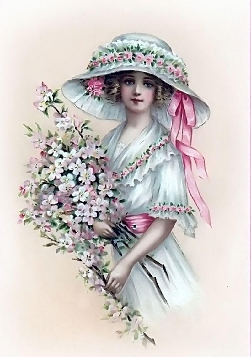 Женские открытки, открытках февраля