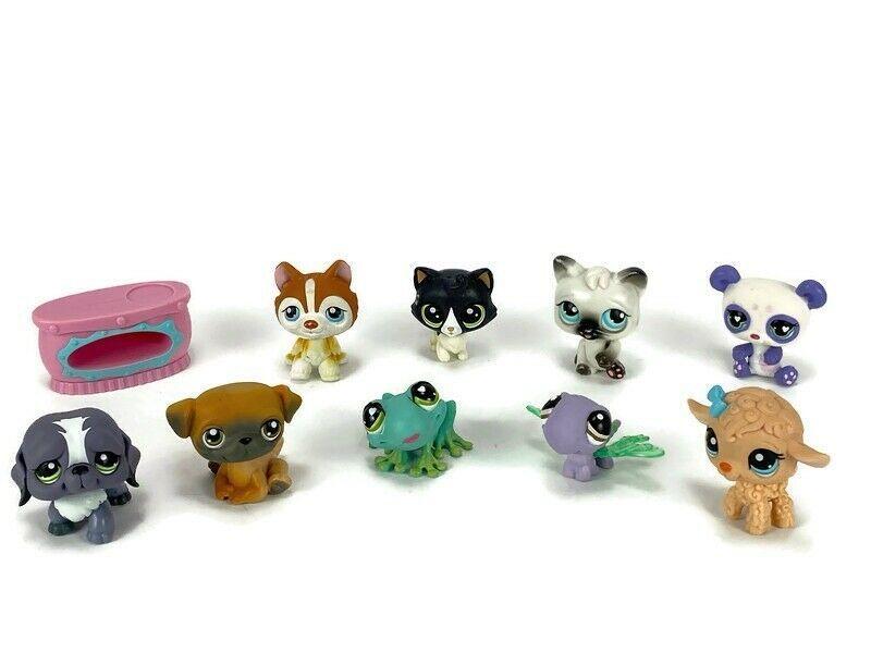 Details about 10 littlest pet shop little animals dog cat
