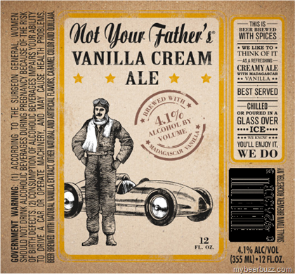 mybeerbuzz.com - Bringing Good Beers & Good People Together...: Not Your Father's - Vanilla Cream Ale