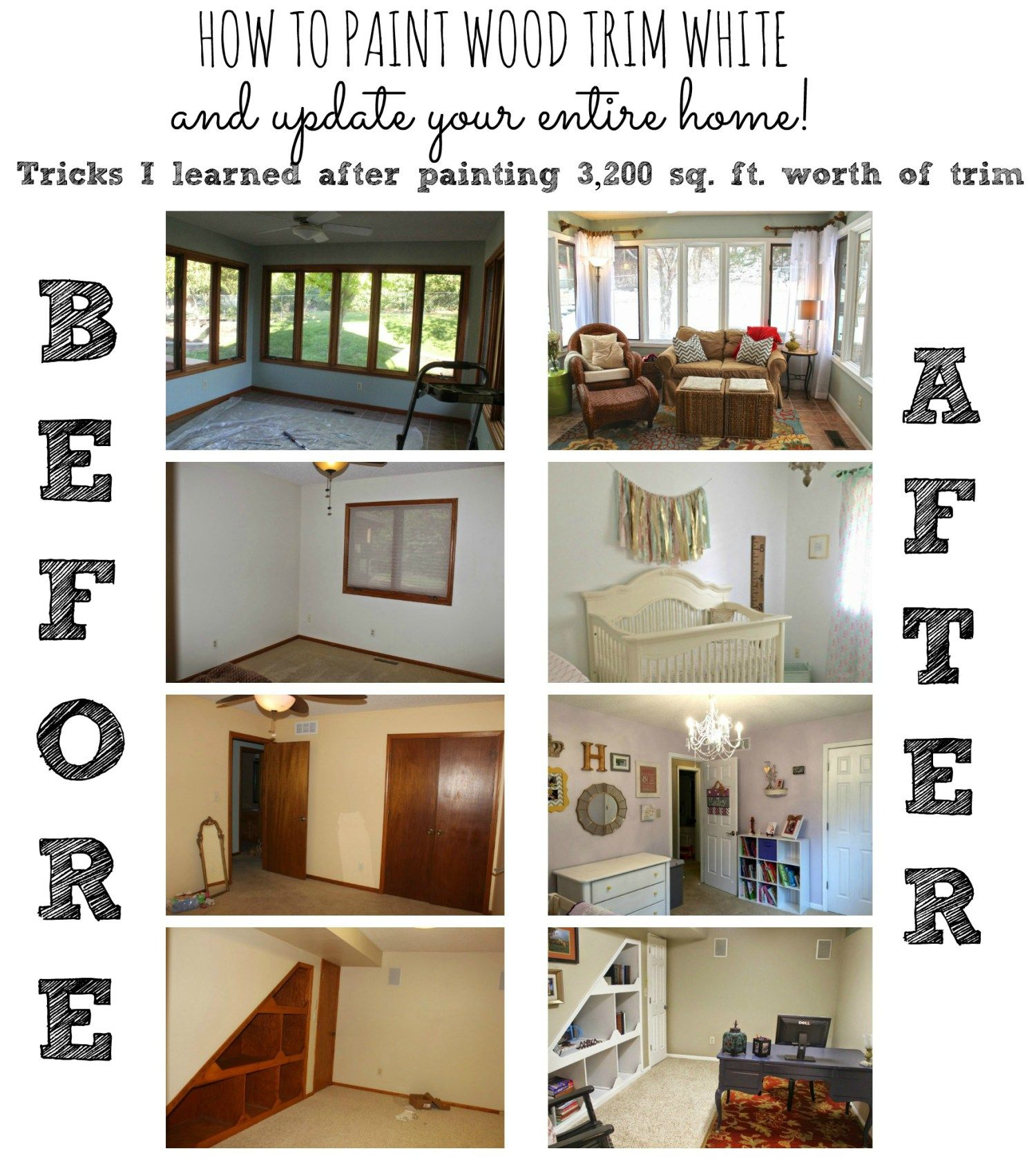 How To Paint Trim Paint Trim Oak Trim And Baseboard