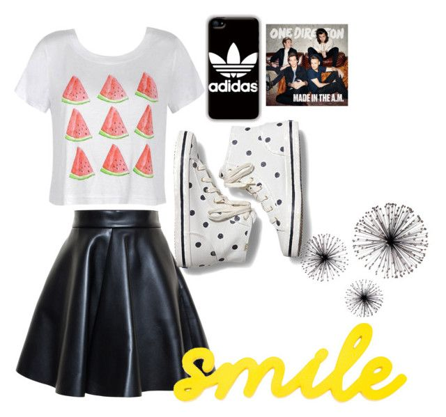 """""""Feel Good Outfit"""" by espinosa-dolans on Polyvore featuring beauty, MSGM, Ally Fashion, Keds and adidas"""