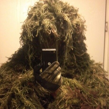 Ghillie suit work of art