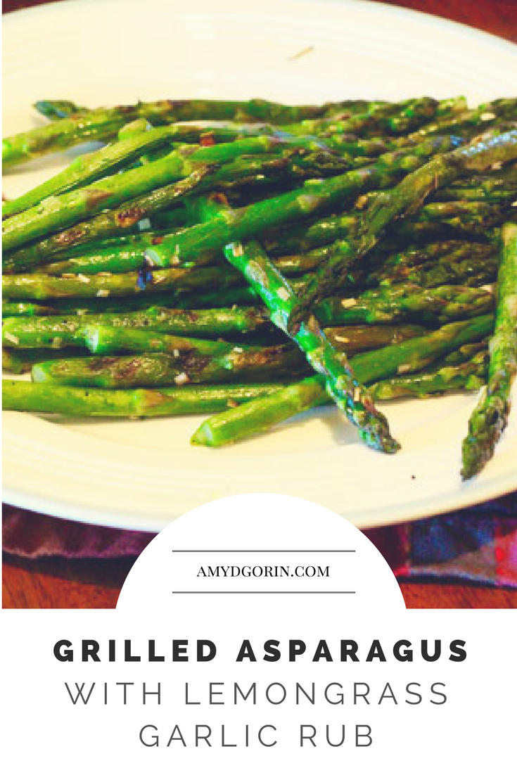 Grilled Asparagus with Lemongrass Garlic Rub -  This recipe is a zesty side-dish that pairs perfectly with any main course!