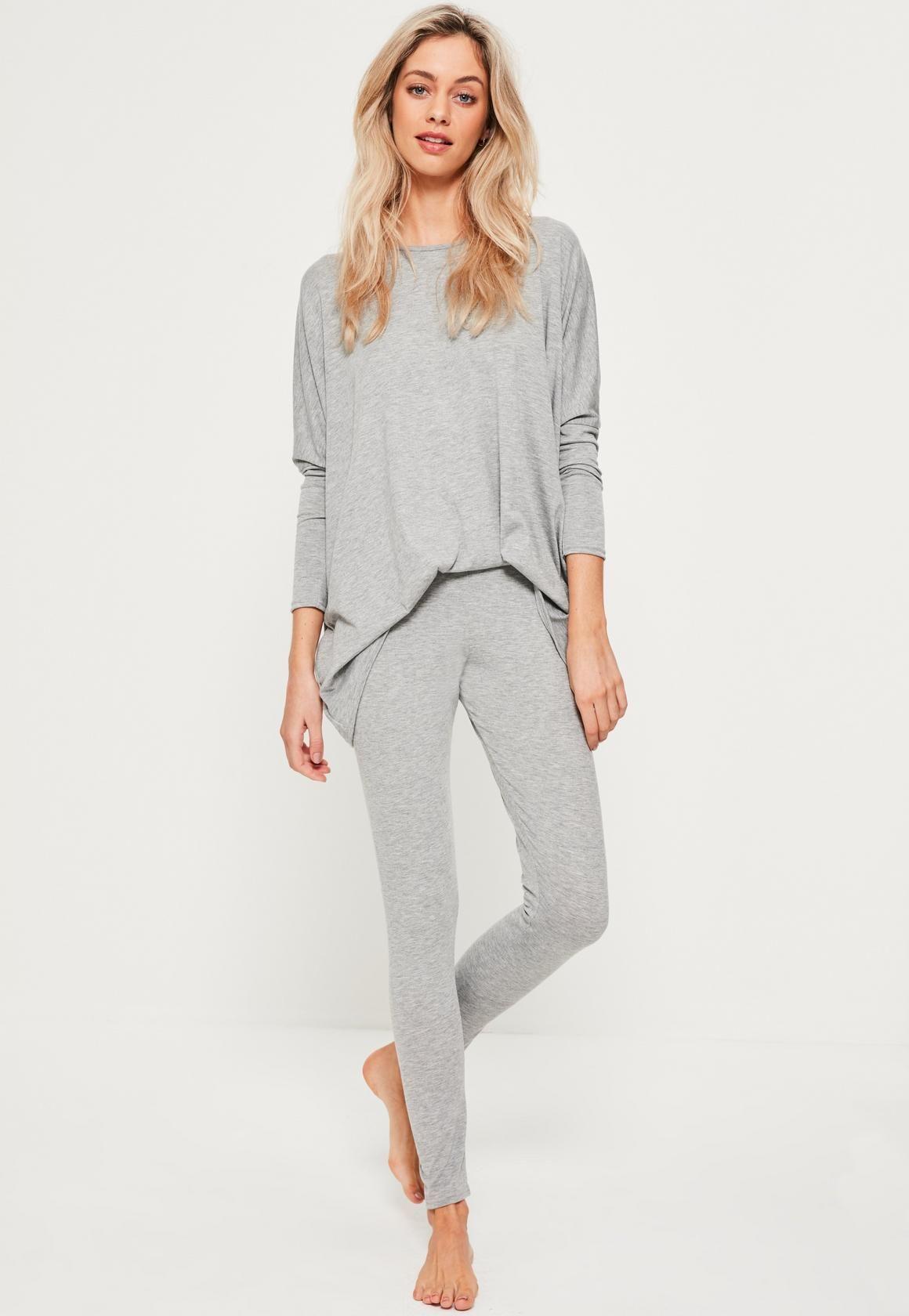 a10cf05d Missguided - Grey Jersey Oversized Loungewear Set | Fashi-on ...