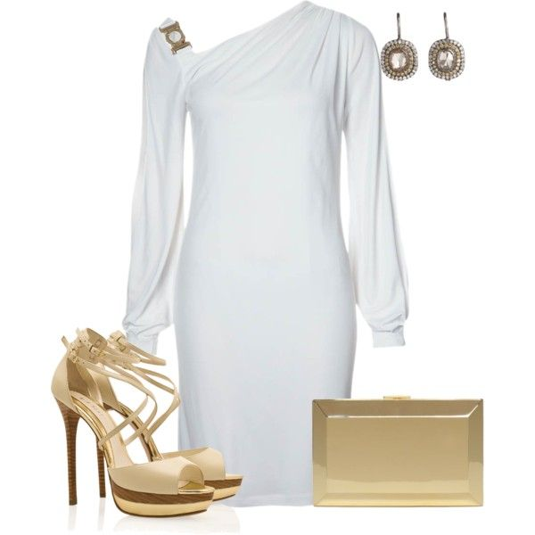 New Year's Day 2014- White Jersey Dress