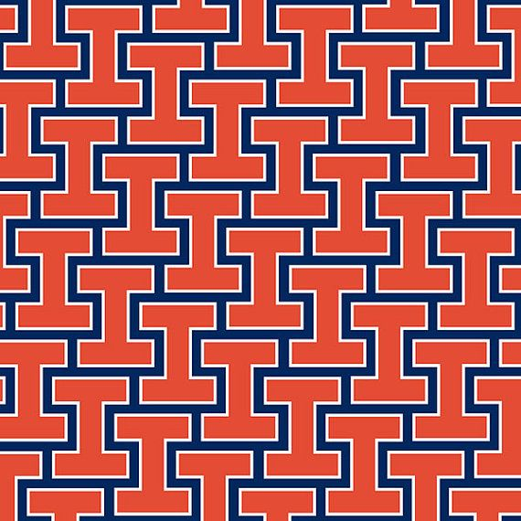 This Colorful University Of Illinois Fighting Illini Heart Print Is An Original Pattern Illini Basketball Illinois Fighting Illini Fighting Illini Basketball