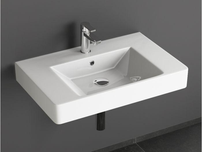 Aqua Bagno Quadra Soft Keramik Waschtisch 70cm weiß