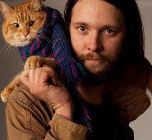 bob the cat | James Bowen and Bob the cat. Pic: David Parker