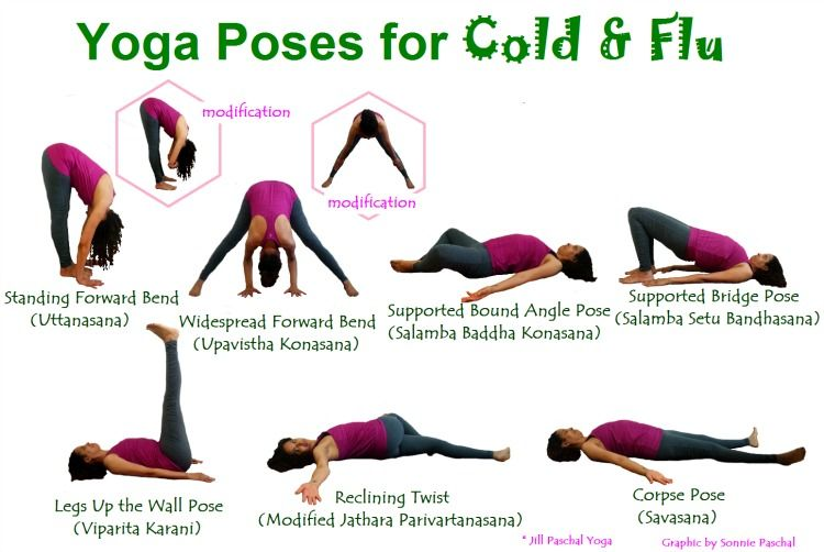 Yoga poses for cold and flu #yoga #ashtanga | Yoga