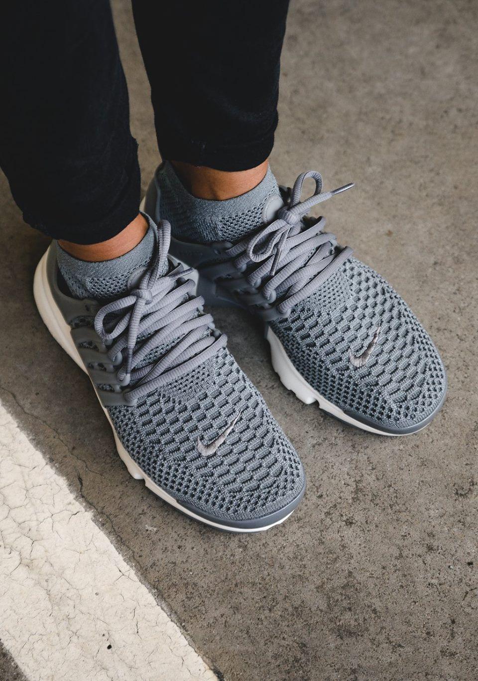 Unstablefragments2 Nike Wmns Air Presto Flyknit Cool Grey Via Kicks Daily Com Womens Running Shoes Nike Shoes Women Running Shoes Nike