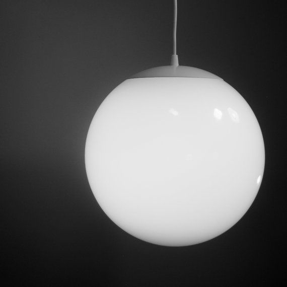 Beautiful Large Modern Globe Pendants | Pendant Light   Large 12 Inch Glass Globe    Mid Century