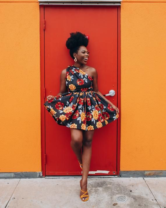 Ankara Dress African Clothing African Dress African Print Dress African Fashion Women's Clothing African Fabric Short Dress Summer Dress #africandressstyles