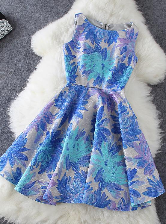 Fashion Jacquard Print Dress