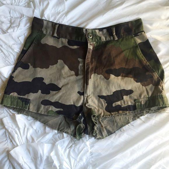Army shorts Urban renewal army shorts Urban Outfitters Shorts