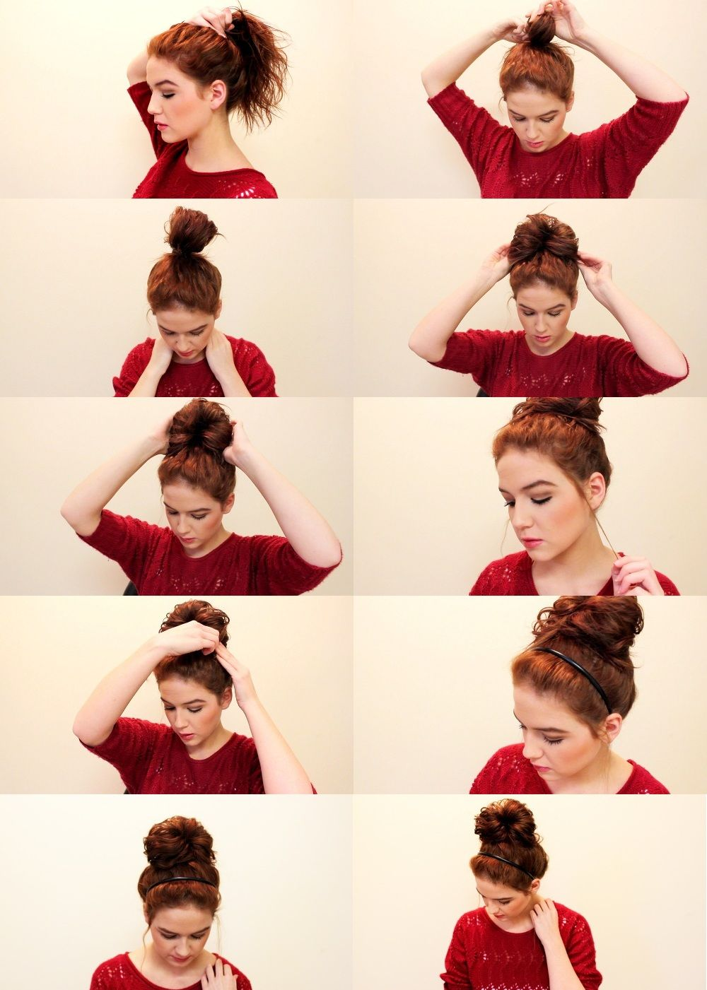 Love Shelbey Quick And Easy Messy Bun Bun Hairstyles For Long Hair Hair Styles Medium Hair Styles