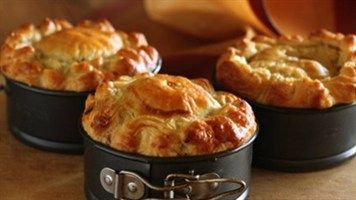 Country Chicken And Mushroom Pies Lifestyle Recipe Sour Cream Pastry Chicken And Mushroom Pie Beef Pies