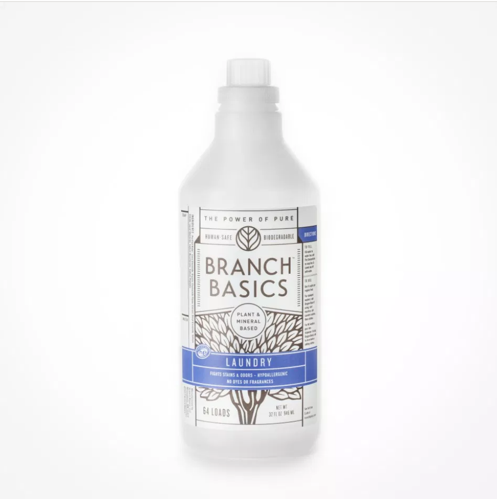 Branch Basics Is Now Bringing Laundry To You The Laundry Solution Fights Stains And Odors Making Laundry Of Any Kind Branch Basics Laundry Solutions Bottle