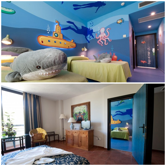 Hotel familiar en huelva con habitaciones tem ticas para ni os compartidas family hotel in - Habitaciones tematicas para ninos ...