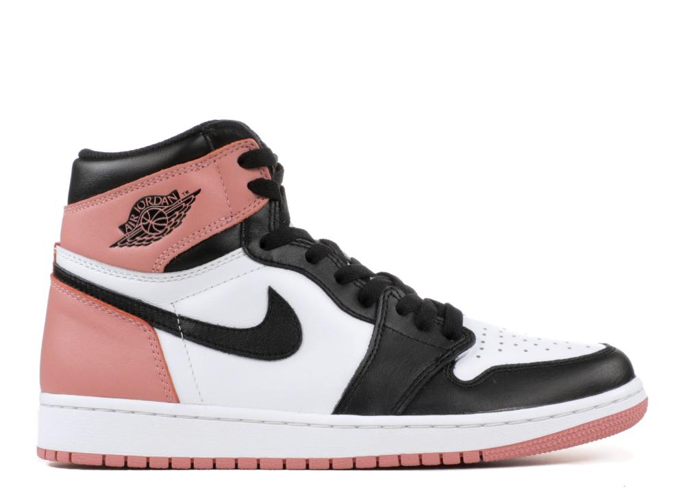 Air Jordan 1 Retro High Og Nrg Rust Pink Air Jordan 861428 101 White Rust Pink Black Flight Club Air Jordans Retro Air Jordans Jordan Shoes Girls