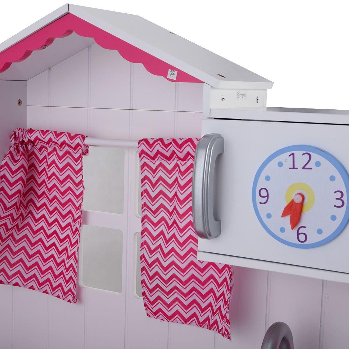 Wood Kitchen Toy Kids Cooking Pretend Play Set Toddler Wooden Playset Gift - Kitchen & Dining - Home & Garden