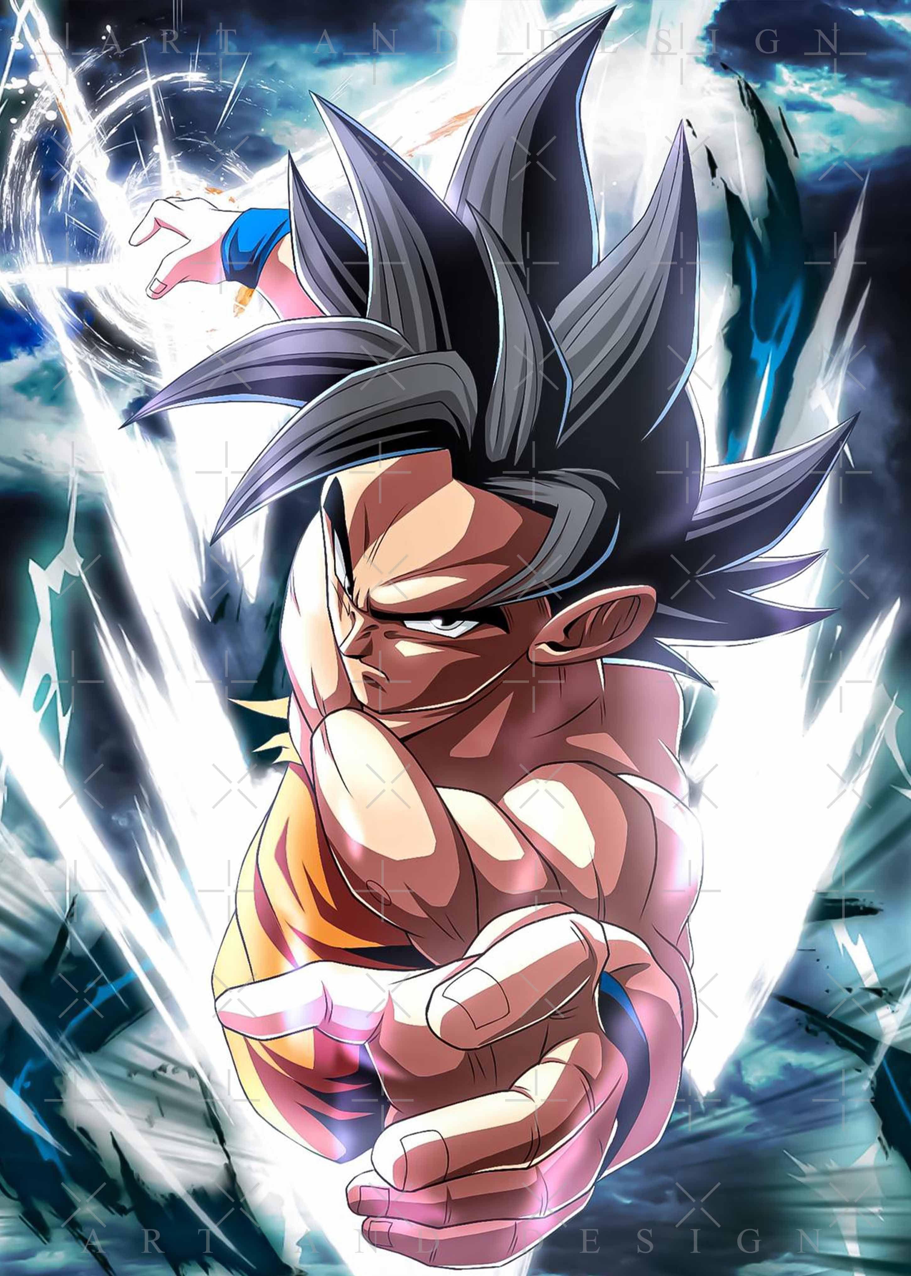 Goku super saiyan God Dragon Ball Poster