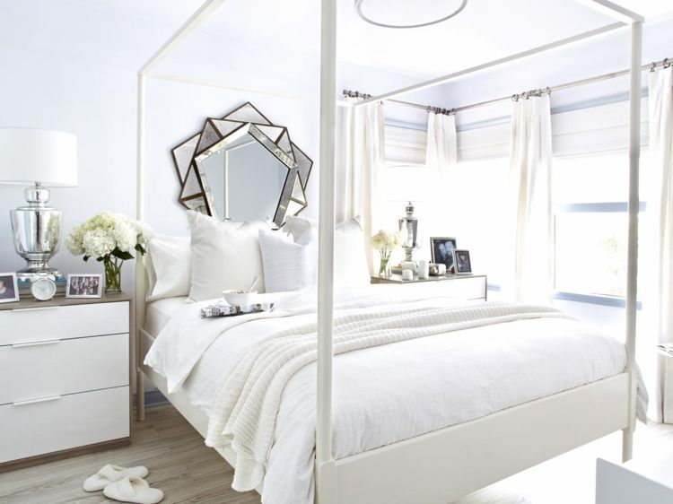 kuscheldecke-gehäkelt-leicht-weiss-schlafzimmer | Wohnideen fürs ...