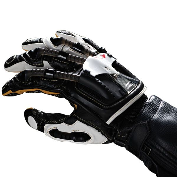 Large Knox Handroid Pod Leather Summer Short Motorcycle Gloves