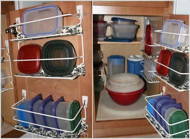 Merveilleux Easy Tupperware Storage Ideas   Organization Plastic Containers Ideas Glass  Kitchen DIY Solutions Hacks Cabinets Drawer