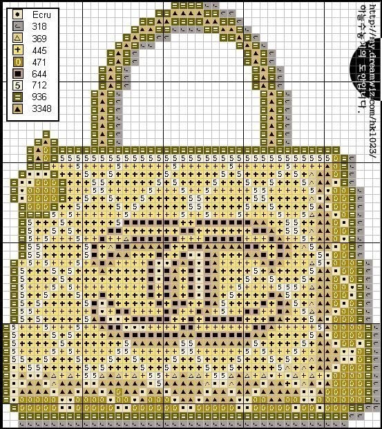 point de croix sac à main Chanel - cross stitch Chanel handbag
