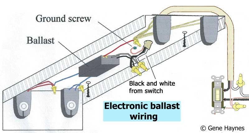 How To Wire Electronic Ballast Ballast Electronics Wire