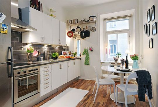 Look! Staging a Studio from Alvhem Dining, Grey backsplash and